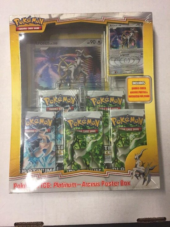 Pokemon TCG Platinum Arceus Poster Box