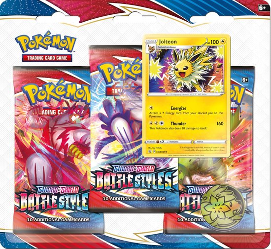 Pokémon Sword & Shield Battle Styles 3BoosterBlister - Jolteon