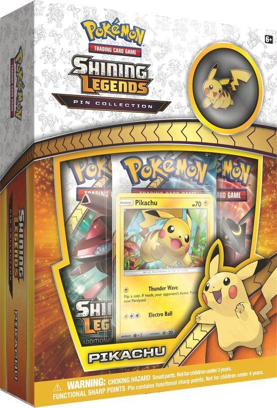 Shining Legends Pikachu Pin