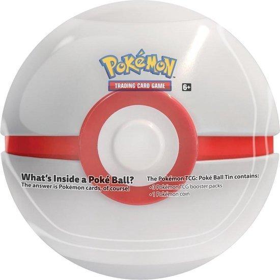 Pokeball blik model Premier Ball met 3 pakjes kaarten