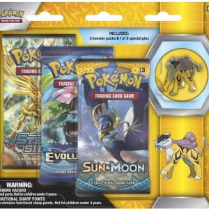 Pokémon Raikou Collector's Pin 3-pack blister