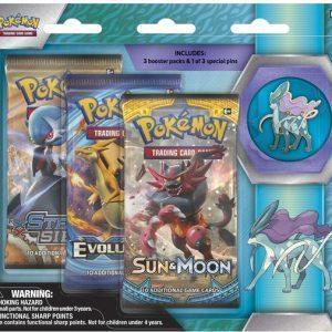 Pokemon Suicine blister met 3 booster packs