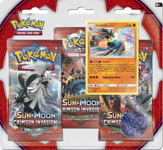Pokémon Sun & Moon Crimson Invasion Booster blister Lucario