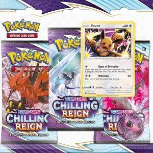 Pokémon Sword & Shield Chilling Reign 3-Boosterpack Blister Eevee