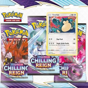 Pokémon Sword & Shield Chilling Reign 3-Boosterpack Blister Snorlax