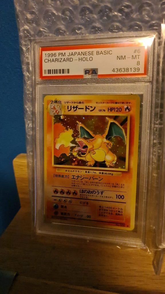 WOTC Pokémon Japanse Base Charizard Holo PSA 8