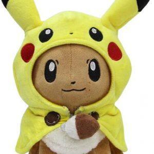 Eevee Knuffel met Pikachu pak 22 cm
